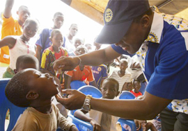 END POLIO NOW - 11. AUGUST 2015 - NY MILEPÆL